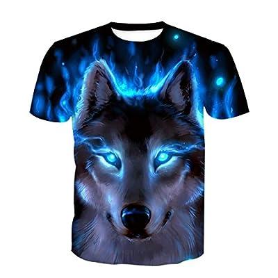 SEVENWELL Men Original Animal Printed T-Shirt Cool Casual 3D Digital Graphics Tee Tops