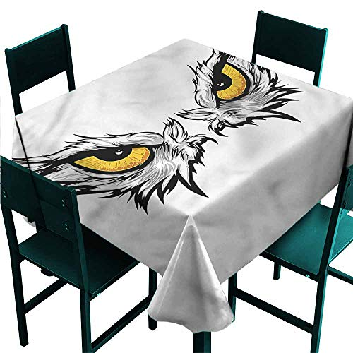 DONEECKL Easy Care Tablecloth Eye Angry Gaze of