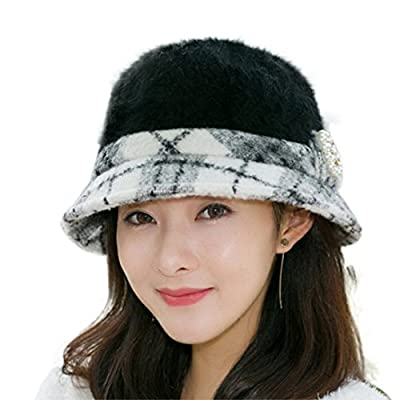 Usstore Women's Ladies hat Trendy Winter Keep Warm Baggy Flower Cap