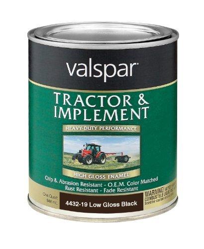 (Valspar 4432-19 Low Gloss Black Tractor and Implement Paint - 1 Quart by Valspar)