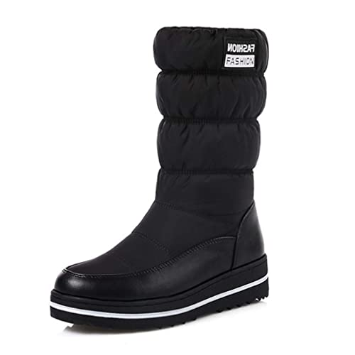 45d47862ab65 Image Unavailable. Image not available for. Color  GIY Women s Waterproof  Winter Mid Calf Snow Boots Warm ...
