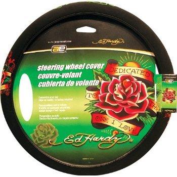 Ed Hardy Dedicated Rose Steering Wheel Cover