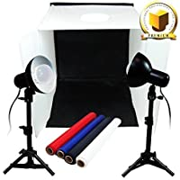 Limo Premium Pro Table Top Photo 20 X 20 Soft Tent Kit With 800-900 Lumens Continuous Led Lights , Lmp106