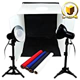 """Limo Premium Pro Table Top Photo 20"""" X 20"""" Soft Tent Kit with 800-900 Lumens Continuous Led Lights, Lmp106"""