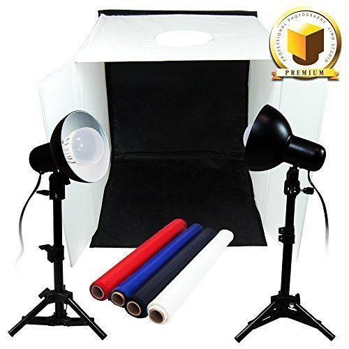 Limo Premium Pro Table Top Photo 20'' X 20'' Soft Tent Kit With 800-900 Lumens Continuous Led Lights , Lmp106 by LimoStudio