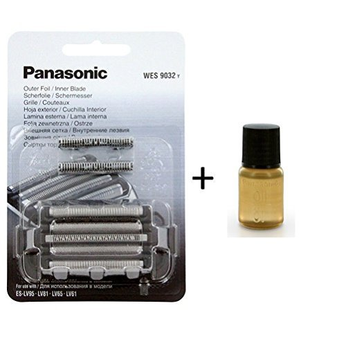 Stainless Steel Cutter and Foil with 6ml Oil (WES9032Y) for Panasonic WES9032 ()