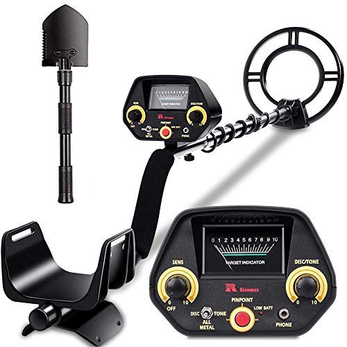 (RM RICOMAX Metal Detector - High-Accuracy Metal Finder with Discrimination Mode, Tone Mode, View Meter, 8