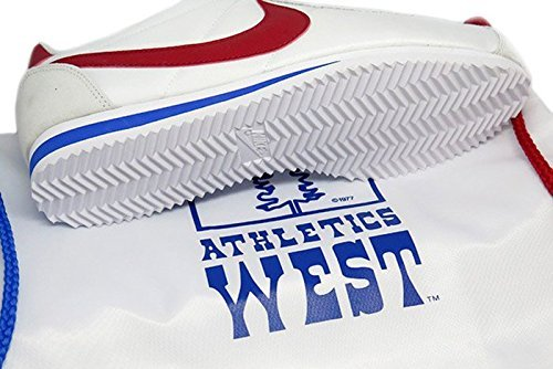 Nike Men Classic Cortez Nylon AW QS (white/varsity red-varsity royal) with Bag - Size 11.5 M US by Nike (Image #1)