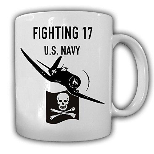 VF 17 Jolly Rogers Fighting Squadron 17 US NAVY Badge F4U Corsair Skull Pirate Pacific- Coffee Cup Mug