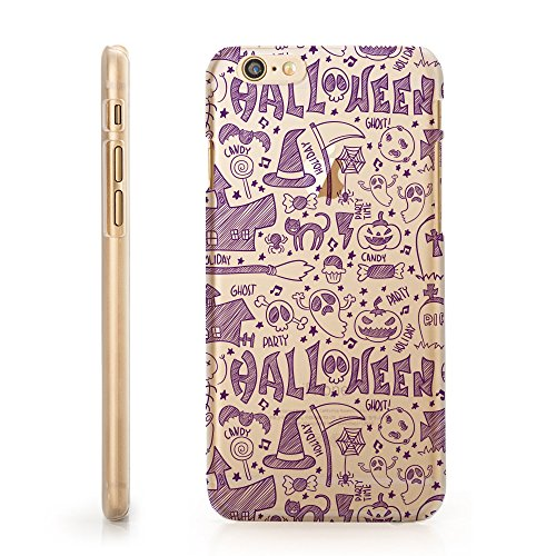 MFVN iPhone 7 Plus/iPhone 7 Plus Protective Case - Halloween - Pumpkin - Halloween Ghost - Candy - Purple - Hard Plastic Clear Case Silicone Skin Cover ()