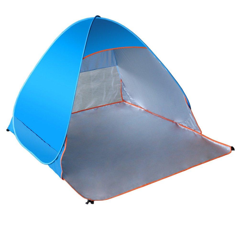 LBAFS Automatisches Sofortiges Pop-up-Zelt Im Freien Anti UV Wasserdichtes Regen-Proof Für Fischen-Strand-kampierendes Wandern, 2 Person,Blau