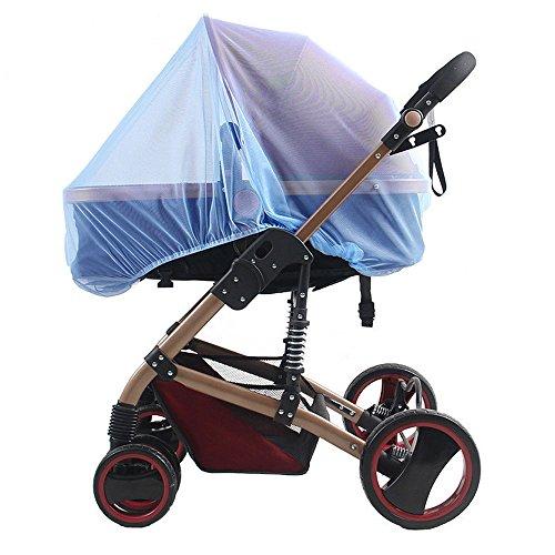 Gosear Universal Insect Mosquito Bug Safe Malla Net Completa para Cochecitos de bebé Cochecitos Cunas Cunas Cochecitos Cochecitos Azul