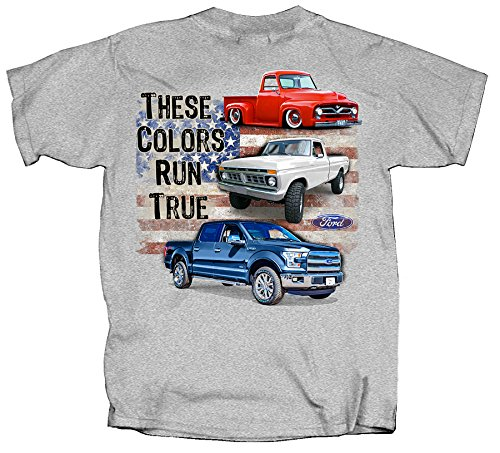 Color Run T Shirt (Ford 100th Anniversary Red White Blue Trucks These Colors Run True)