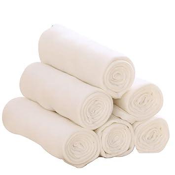 GUO Pañales de bebé de fibra de bambú lavables pañales de gasa de algodón Pendientes urinarios