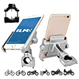 ILM Bike Motorcycle Phone Mount Aluminum Bicycle Cell Phone Holder Accessories Fits iPhone X Xs 7 7 Plus 8 8 Plus iPhone 6s 6s Plus Galaxy S7 S6 S5 Holds Phones up to 3.7