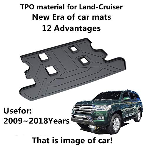 AUNAZZ/Car Mat For TOYOTA Land-Cruiser 2009-2018Years Rubber Rear Trunk Cargo Liner Trunk Tray Floor Mat Cover 1 - Rubber Boot Liner