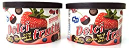 Dolci Frutta Hard Chocolate Shell, 8 Ounce (Pack of 2)