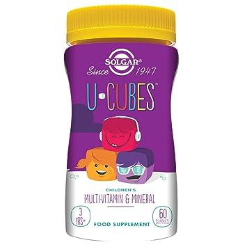 Solgar U-Cubes Vitaminas y Minerales - 60 Unidades: Amazon.es: Salud y cuidado personal