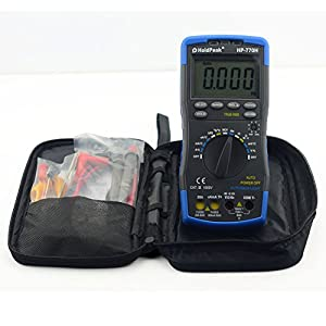 HoldPeak HP-770series Digital Multimeter Meter with NCV Feature and Frequency/Dide/hFE Test (black 770H)
