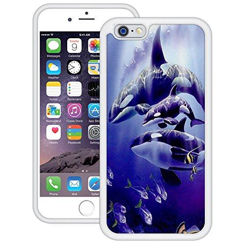 Schwertwal Killerwale | Handgefertigt | iPhone 6 6s (4,7') | Weiß TPU Hülle
