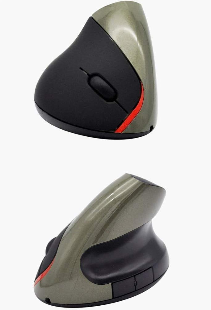 Color : Blue BZFjy Mouse Wireless Vertical Mouse Upright Mouse Ergonomic Bowl Optical Mouse Office Desktop Laptop Mouse Black