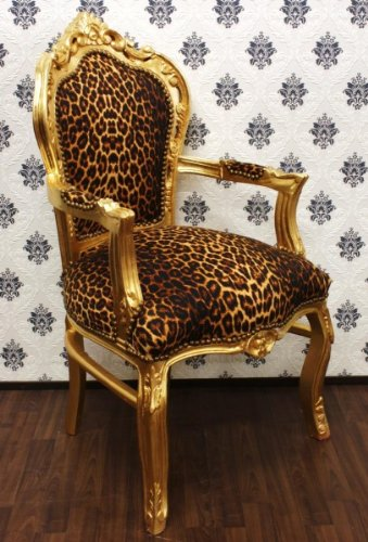 Casa Padrino Barock Esszimmer Stuhl Leopard Gold Mit Mit Gold