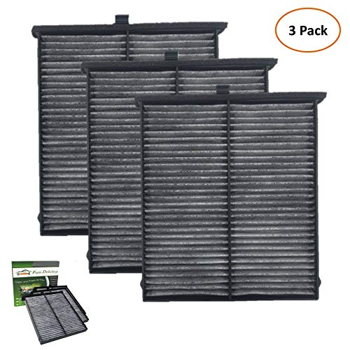 3 Pack Cabin Air Filter for Mazda 3/6/CX-5 With Activated Carbon,Replacement for KD45-61-J6X/KR11-61-J6X/MP11-1K-D451/CF11811