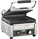 Waring Commercial WPG150 Compact Italian-Style Panini Grill, 120-volt