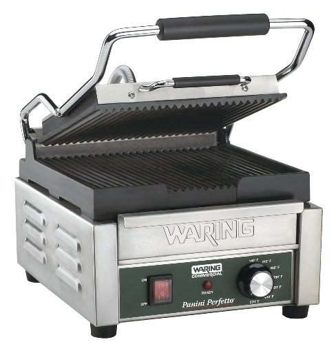 Waring Commercial WPG150B Compact Italian-Style Panini Grill, 208-volt by Waring