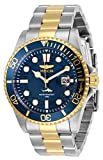 Watches : Invicta Men's Pro Diver Quartz Watch with Stainless Steel Strap, Two Tone, 22 (Model: 30021)