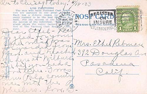 Dayton Ohio National Cash Register Co Employees Antique Postcard