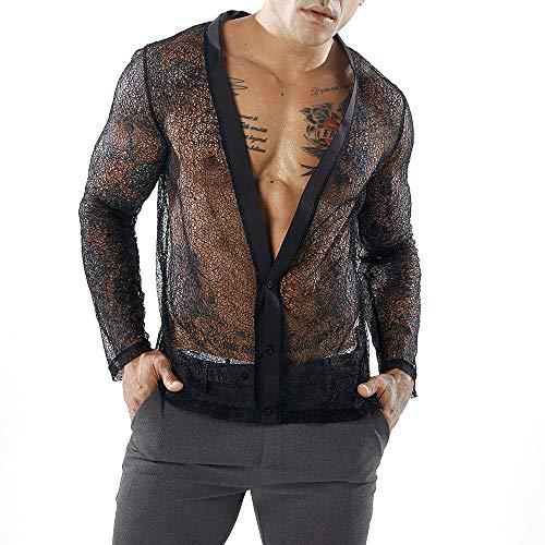 Top Blouse Cardigan Autumn Casual Mesh Shirts Long