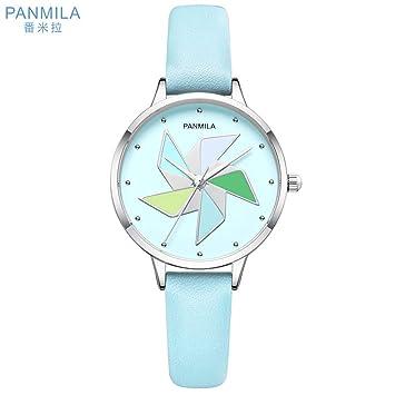 Zxzays Creativo Dial Relojes Chica Diamond aleación de Cuarzo Delgado Reloj Elegante Reloj Mujeres, Verde Claro: Amazon.es: Deportes y aire libre