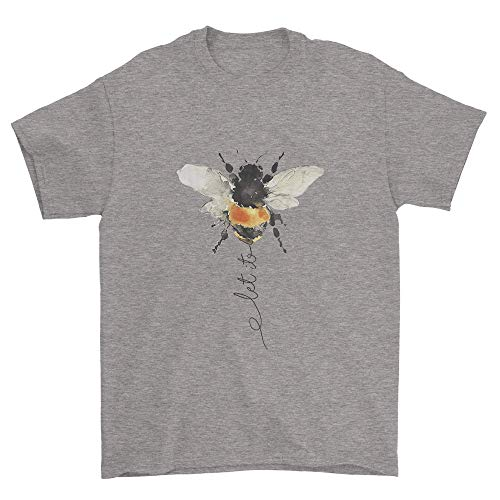 Funny Let It Bee T-Shirts Grey