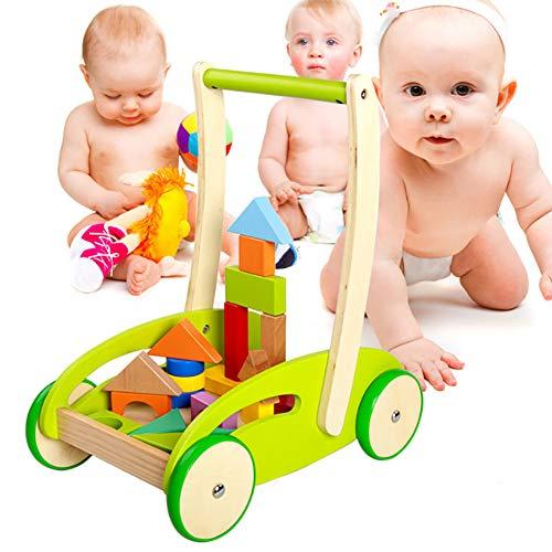 WDXIN Bebé Andador Juguete De Madera Multifuncional Defensa Rollover Carro Niño Bebe Aprendiendo a Caminar Caminante.