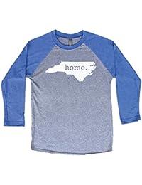 North Carolina Home 3/4 Length Baseball Style Raglan T-Shirt