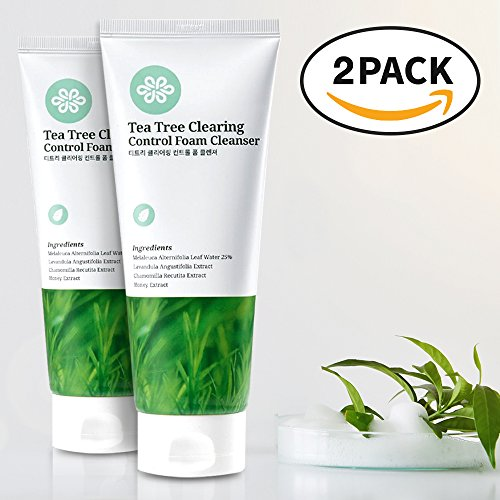 LOVLUV Tea Tree Foaming Facial Cleanser. Daily Cleaning Face Wash with Real Ingredient for Healthy Skin. Calm Your Sensitive Face with Creamy Moisturizing Foam. For All Skin Types. (Skin Care Australian Body Care)