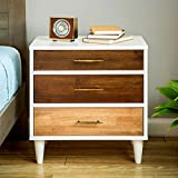 Unique Christian 3-drawer Oak, Wenge, White Finish Modern Nightstand