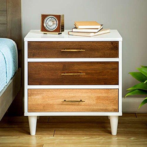 Unique Christian 3-drawer Oak, Wenge, White Finish Modern Nightstand by I Love Living