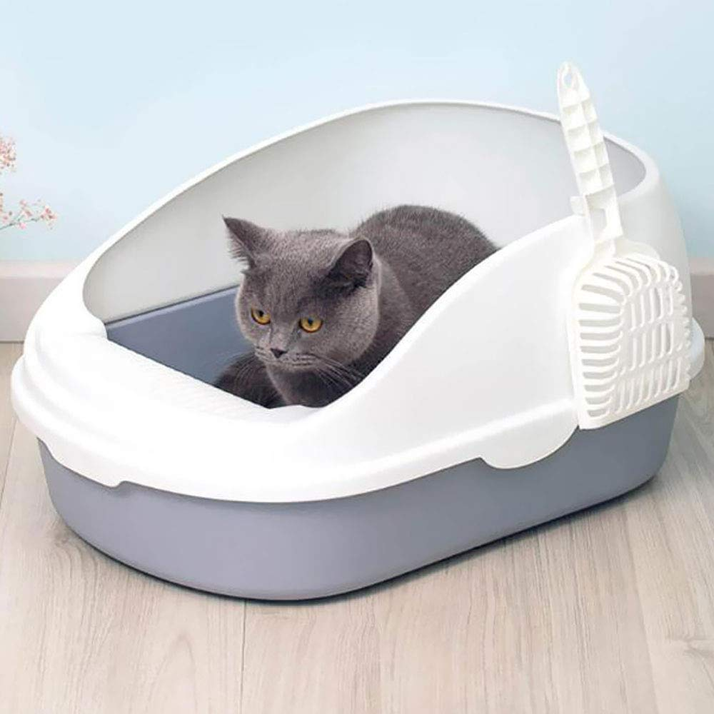 ASDJFHKJS Portable Cat Litter Bowl Toilet Bedpans Large Middle Size Cat Excrement Training Sand Litter Box with Scoop for Pets Kitty by ASDJFHKJS