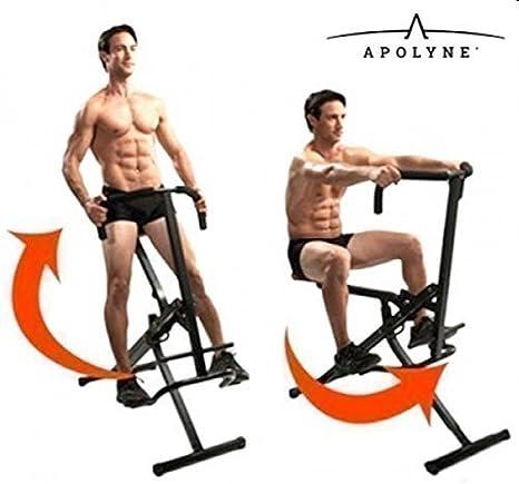 Abdo Crunch Fitness Bicicleta De Ejercicio Ejercitador plegable ...