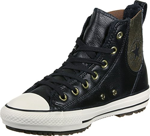 Converse Women's Chuck Taylor All Star Chelsee Boot Leather & Fur Black/Black/Egret 7 M