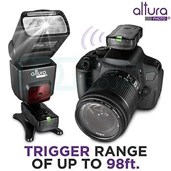 Altura Photo Professional Flash Kit For Nikon Dslr - Includes: I-ttl Flash (Ap-n1001), Wireless Flash Trigger Set & Accessories 6