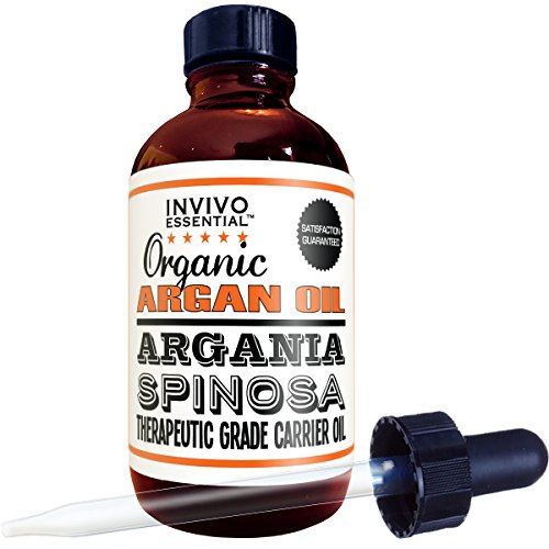 Organic Argan Oil USA Manufactured Premium Therapeutic Grade 4 Ounce Liquid Carrier Oil For Aromatherapy Relaxing Massage and Diluting Essential Oils With Free (Black Light Hairspray)
