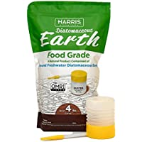 Harris Diatomaceous Earth Food Grade, 4lb w/ Free Powder...