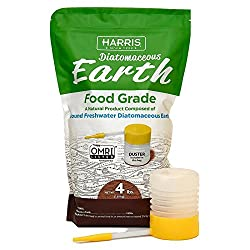Harris Diatomaceous Earth Food Grade, 4lb W Free Powder Duster