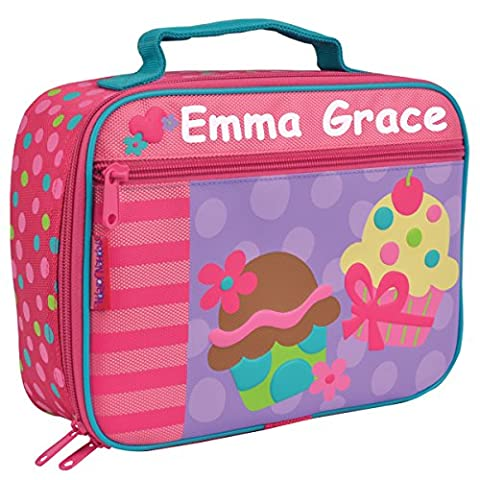 Personalized Stephen Joseph Sweet Treats Cupcake Themed Lunch Box With Name - Dots Personalized Lunch Box