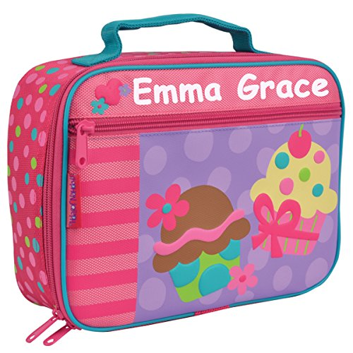 Personalized Stephen Joseph Sweet Treats Cupcake Themed Lunch Box With Name (Personalized Lunch Box)