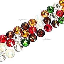 144 pcs (1 gross) Swarovski 2058 Xilion / 2088 Xirius Rose crystal flat backs No-Hotfix rhinestones nail art CHRISTMAS Colors Mix ss20 (4.7mm) **FREE Shipping from Mychobos (Crystal-Wholesale)**