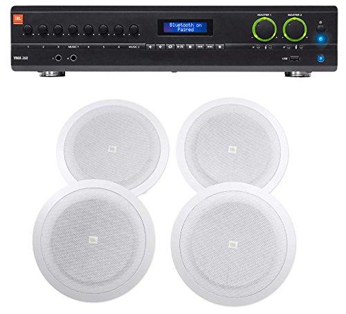 JBL VMA260 60w 8-Input Amplifier+(4) JBL 8